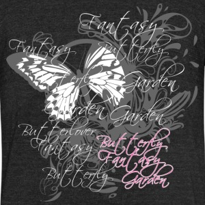 Butterfly garden - Unisex Tri-Blend T-Shirt by American Apparel