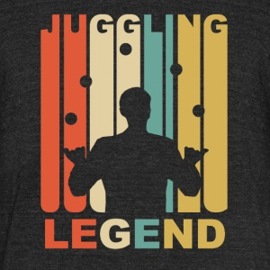 Vintage Juggling Legend Graphic - Unisex Tri-Blend T-Shirt by American Apparel