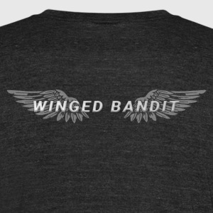 Winged Bandit Wings - Unisex Tri-Blend T-Shirt by American Apparel