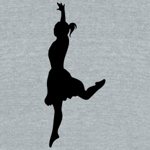 Vector Ballet dancer Silhouette - Unisex Tri-Blend T-Shirt by American Apparel