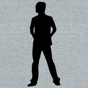 Singer and Dancer Silhouette vector design - Unisex Tri-Blend T-Shirt by American Apparel