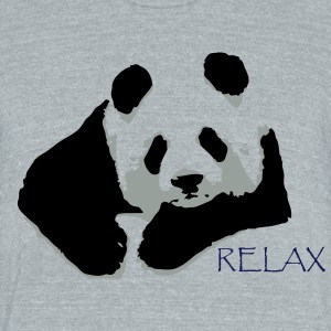 RELAX PANDA - Unisex Tri-Blend T-Shirt by American Apparel