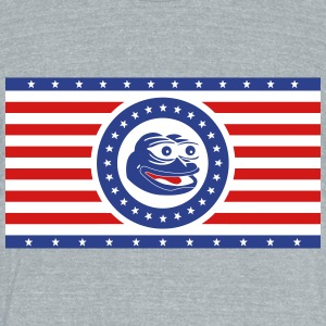 Pepe the Frog America Flag Horizontal - Unisex Tri-Blend T-Shirt by American Apparel