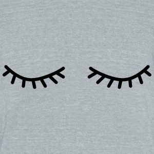 flutter eyelashes - Unisex Tri-Blend T-Shirt by American Apparel