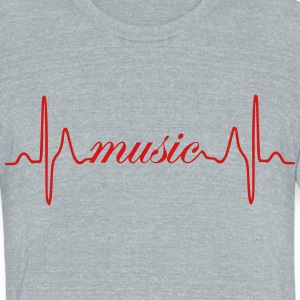 Music ECG heartbeat - Unisex Tri-Blend T-Shirt by American Apparel