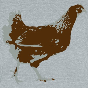 CHICKEN - Unisex Tri-Blend T-Shirt by American Apparel