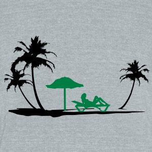 Beach holidays - Unisex Tri-Blend T-Shirt by American Apparel
