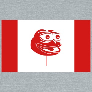 Canadian Pepe Flag - Unisex Tri-Blend T-Shirt by American Apparel