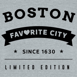 Favorite City Boston - Unisex Tri-Blend T-Shirt by American Apparel