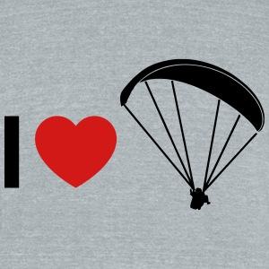 i love paragliding - Unisex Tri-Blend T-Shirt by American Apparel