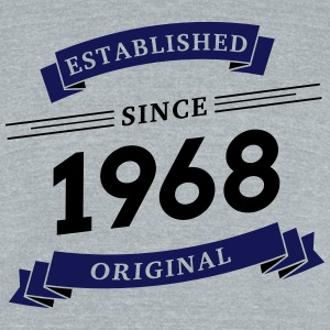 Established since 1968 - Unisex Tri-Blend T-Shirt by American Apparel