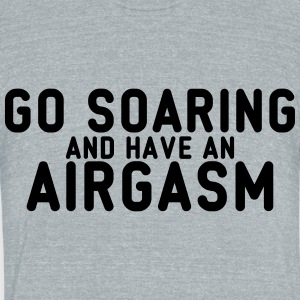airgasm soaring - Unisex Tri-Blend T-Shirt by American Apparel