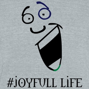 joy - Unisex Tri-Blend T-Shirt by American Apparel