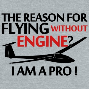 soaring without a engine glider pilot - Unisex Tri-Blend T-Shirt by American Apparel