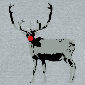Reindeer - Unisex Tri-Blend T-Shirt by American Apparel
