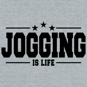 Jogging is life 1 - Unisex Tri-Blend T-Shirt by American Apparel
