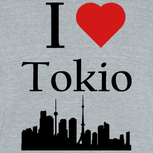 I Love Tokio - Unisex Tri-Blend T-Shirt by American Apparel