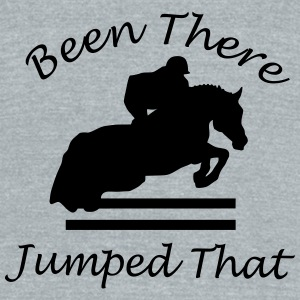Been There, Jumped That - Unisex Tri-Blend T-Shirt by American Apparel
