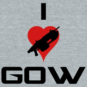 I Love Gears Of War - Unisex Tri-Blend T-Shirt by American Apparel