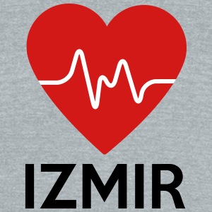 Heart Izmir - Unisex Tri-Blend T-Shirt by American Apparel