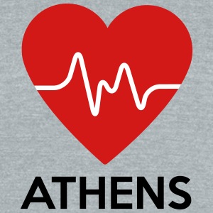 Heart Athens - Unisex Tri-Blend T-Shirt by American Apparel