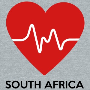 Heart South Africa - Unisex Tri-Blend T-Shirt by American Apparel