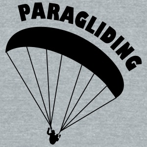 paragliding - Unisex Tri-Blend T-Shirt by American Apparel