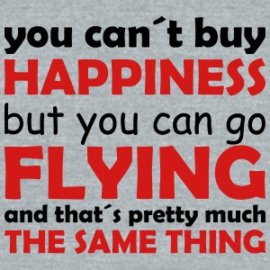 happiness flying - Unisex Tri-Blend T-Shirt by American Apparel