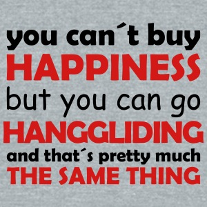 happiness hanggliding - Unisex Tri-Blend T-Shirt by American Apparel