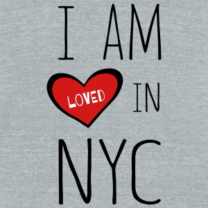 I am loved in NYC - Unisex Tri-Blend T-Shirt by American Apparel