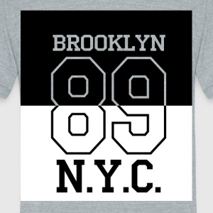Brooklyn 89 NY - Unisex Tri-Blend T-Shirt by American Apparel