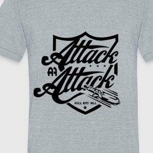 attack-attack - Unisex Tri-Blend T-Shirt by American Apparel