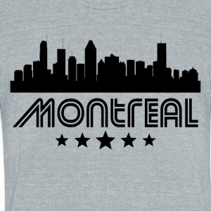 Retro Montreal Skyline - Unisex Tri-Blend T-Shirt by American Apparel