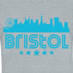 Retro Bristol Skyline - Unisex Tri-Blend T-Shirt by American Apparel