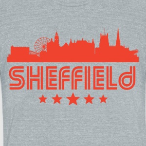 Retro Sheffield Skyline - Unisex Tri-Blend T-Shirt by American Apparel