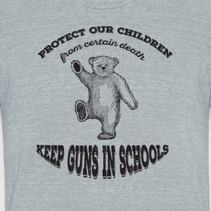 protect the children - Unisex Tri-Blend T-Shirt by American Apparel