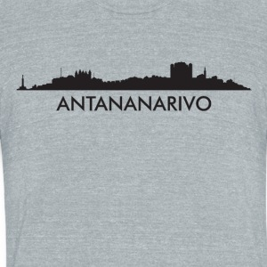 Antananarivo Madagascar Skyline - Unisex Tri-Blend T-Shirt by American Apparel