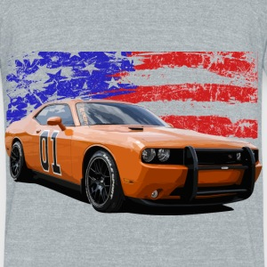 Dodge Challenger RT America Muscle Car Shirt - Unisex Tri-Blend T-Shirt by American Apparel
