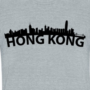 Arc Skyline Of Hong Kong China - Unisex Tri-Blend T-Shirt by American Apparel