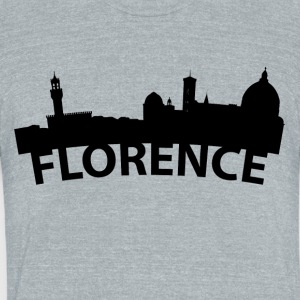 Arc Skyline Of Florence Italy - Unisex Tri-Blend T-Shirt by American Apparel