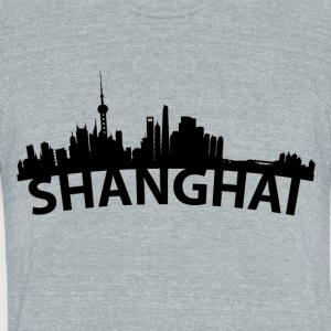 Arc Skyline Of Shanghai China - Unisex Tri-Blend T-Shirt by American Apparel