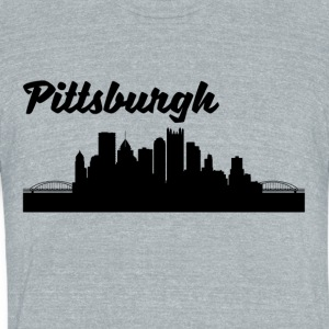 Pittsburgh PA Skyline - Unisex Tri-Blend T-Shirt by American Apparel