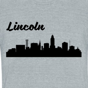 Lincoln NE Skyline - Unisex Tri-Blend T-Shirt by American Apparel