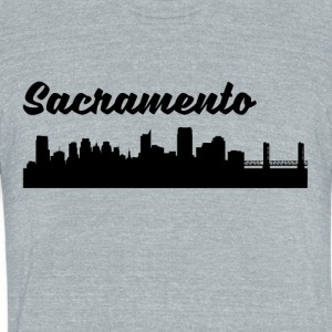 Sacramento CA Skyline - Unisex Tri-Blend T-Shirt by American Apparel