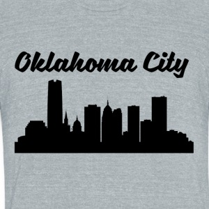 Oklahoma City OK Skyline - Unisex Tri-Blend T-Shirt by American Apparel