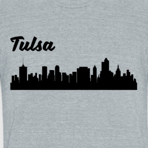 Tulsa OK Skyline - Unisex Tri-Blend T-Shirt by American Apparel