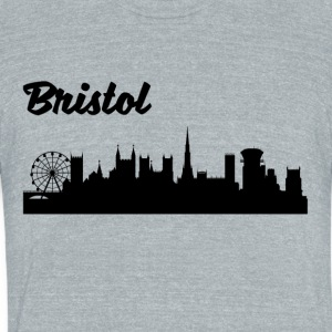 Bristol Skyline - Unisex Tri-Blend T-Shirt by American Apparel