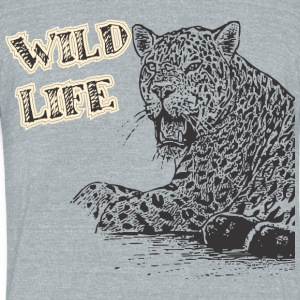WILD LIFE - Unisex Tri-Blend T-Shirt by American Apparel