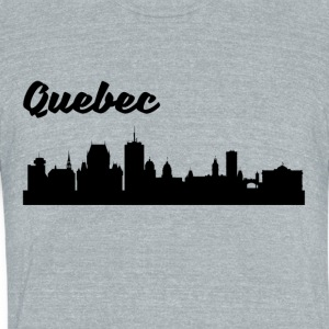 Quebec Skyline - Unisex Tri-Blend T-Shirt by American Apparel