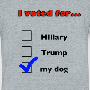 Dog lover political design - Unisex Tri-Blend T-Shirt by American Apparel